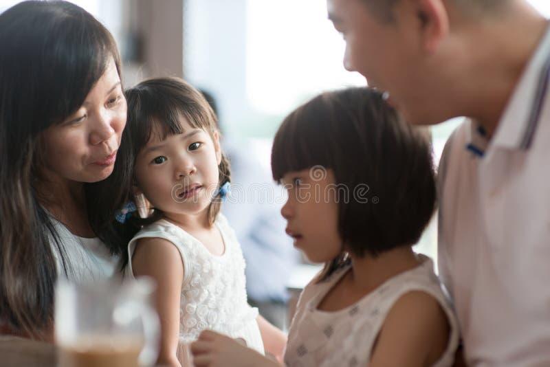 Asian family natural photo stock image