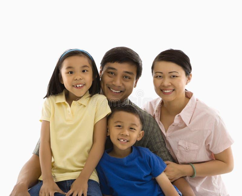 Asian family portrait. royalty free stock photo