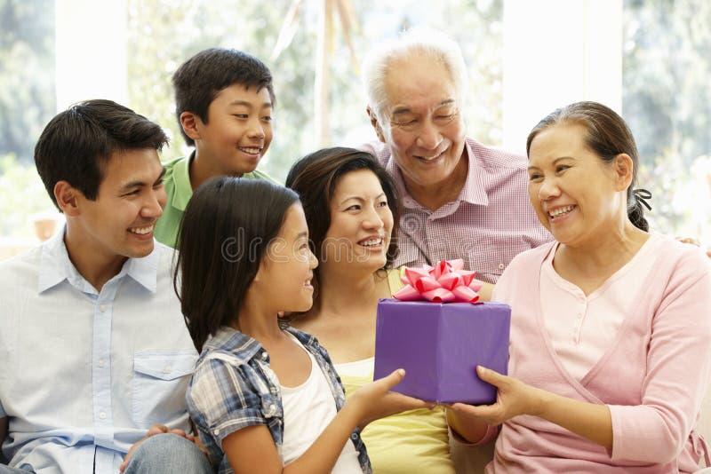 Asian family portrait royalty free stock photo
