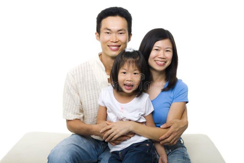 Asian family portrait royalty free stock photos