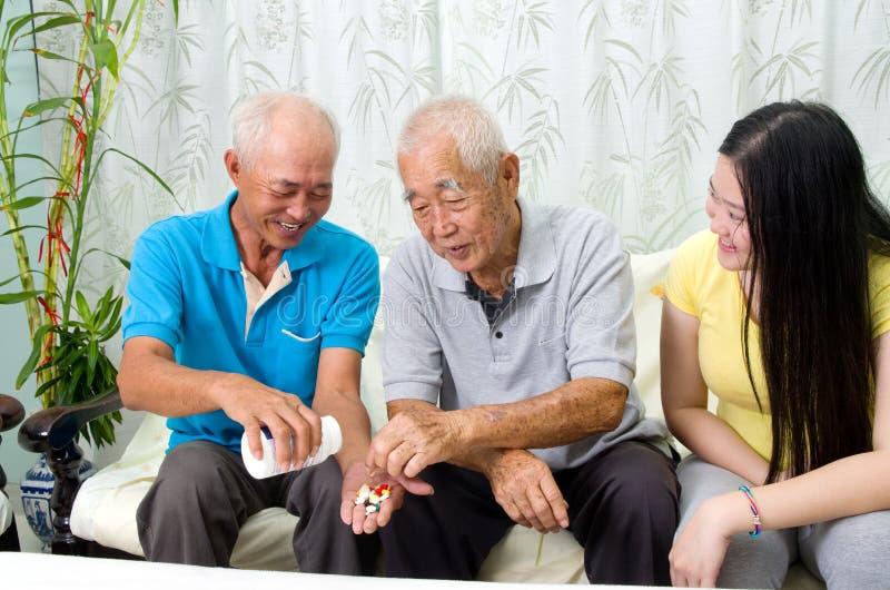 Asian family stock photo