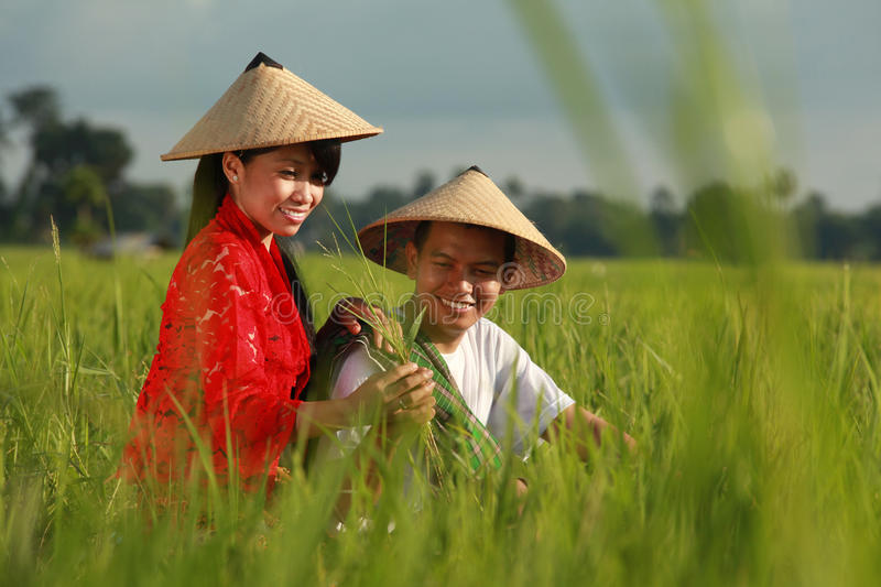 Asian farmer royalty free stock photo