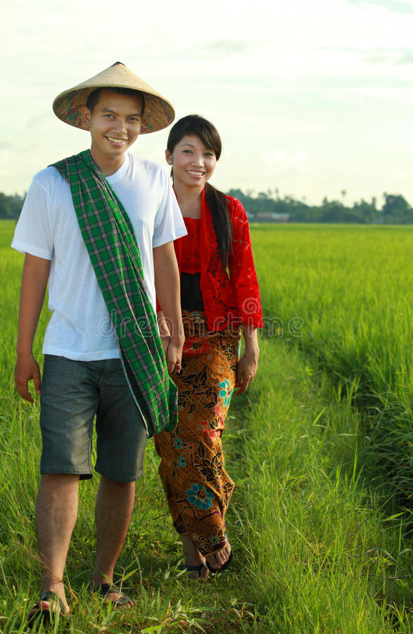 Asian farmer stock photo