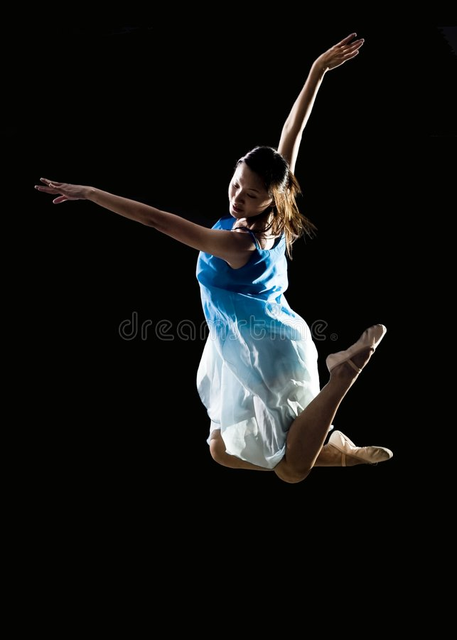 Asian female ballet dancer stock photo
