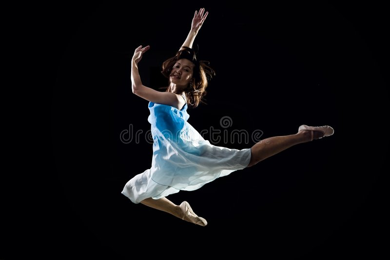Asian female ballet dancer stock photos