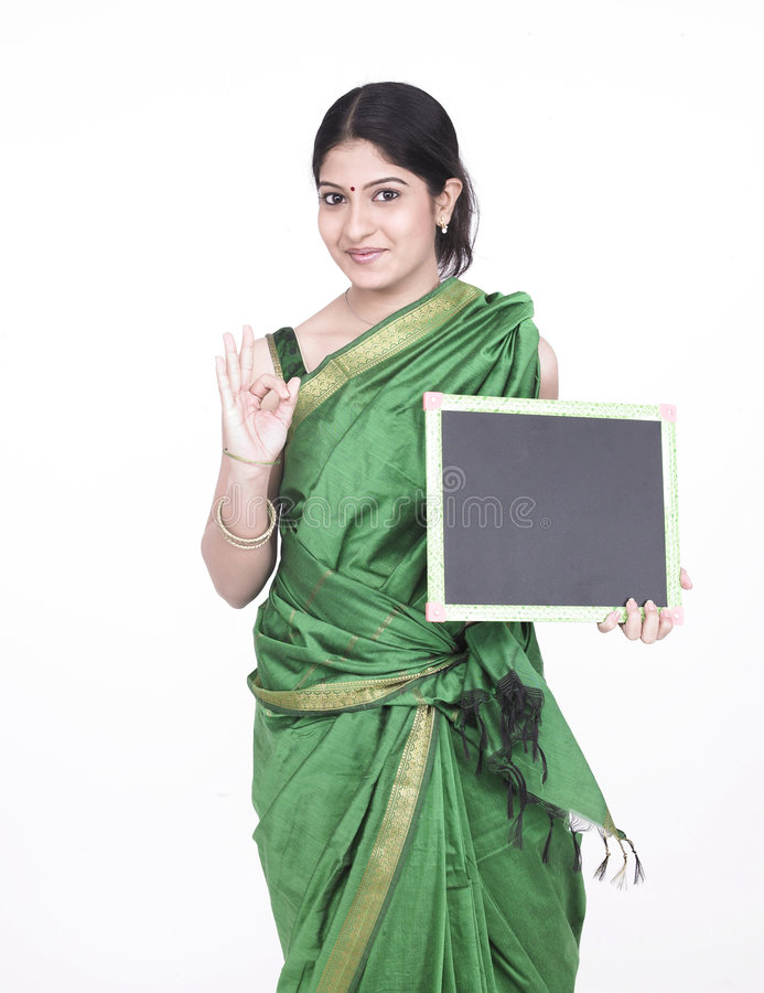 Download Asian Female With A Black Board Stock Photo - Image of banner, asian: 7333018