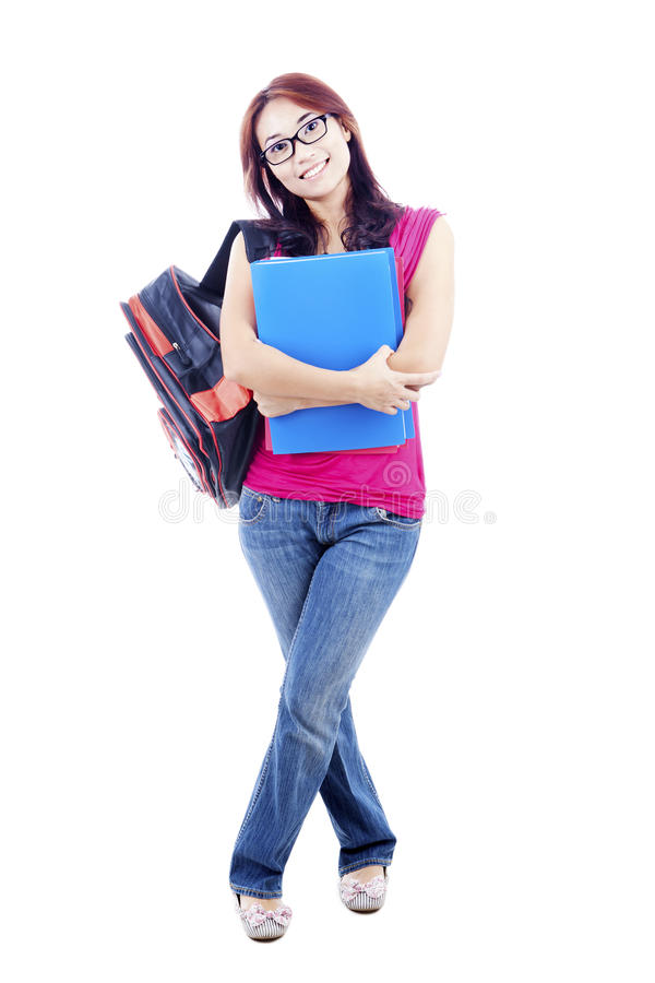 Asian Female College Student Royalty Free Stock Photography