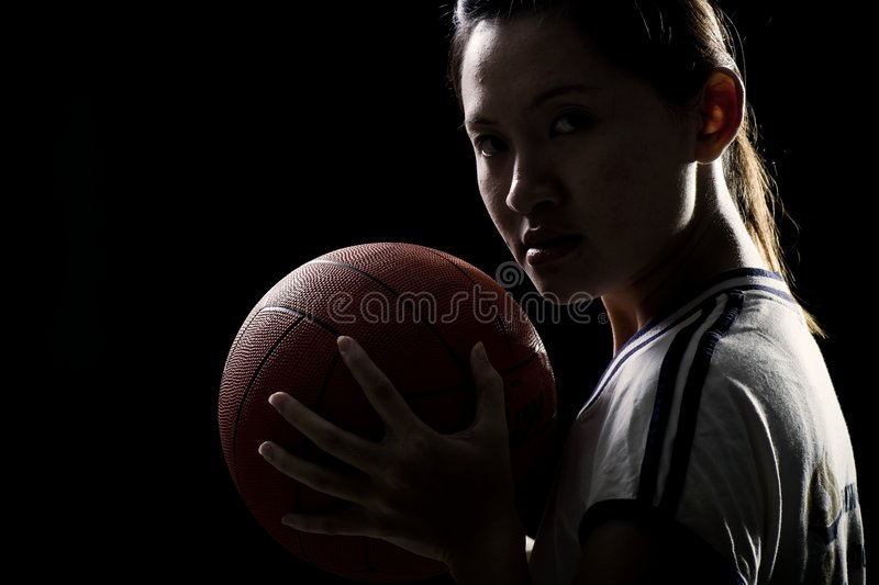 Asian female sports player. An asian female sports player royalty free stock images