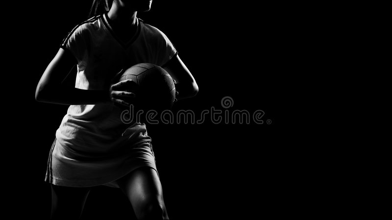 Asian female sports player. An asian female sports player royalty free stock photo