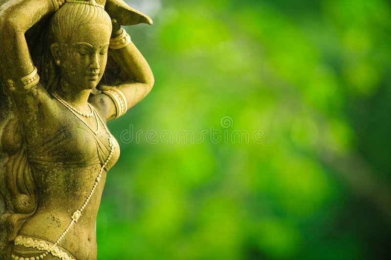 Asian female statue royalty free stock photography