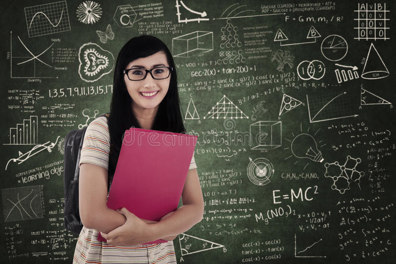 Download Asian Female Student At Classroom Stock Illustration - Image: 31542401