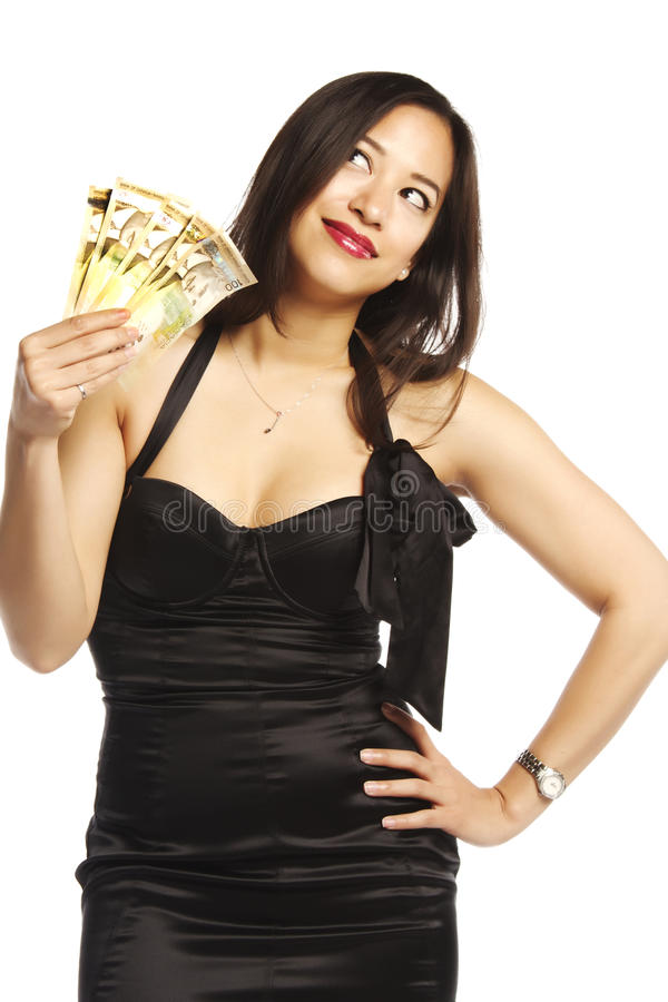 Download Asian Female Thinking Where To Spend Her Money Stock Photo - Image: 21906558