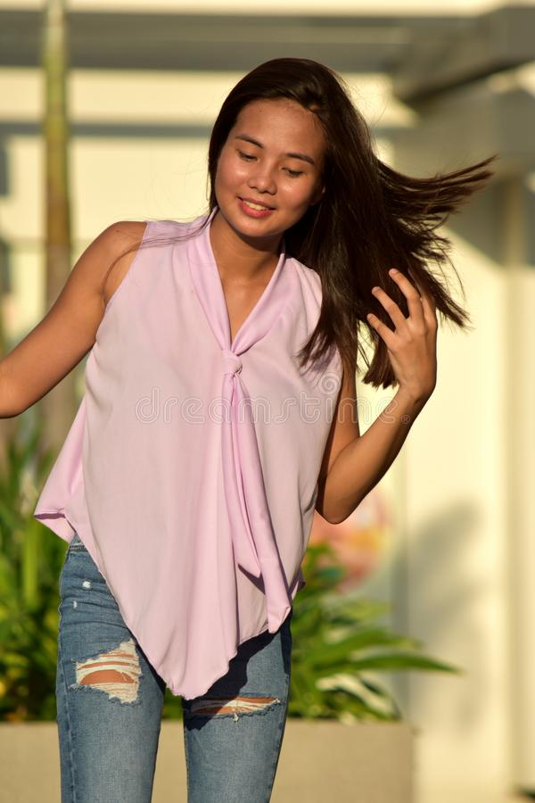 Asian Female Walking royalty free stock images
