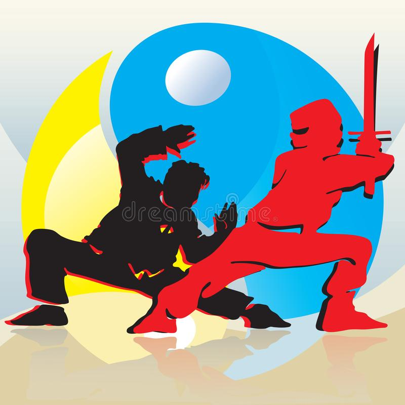Asian Fighters royalty free stock photography