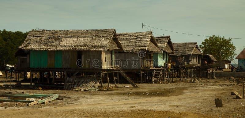 Asian fishing village royalty free stock photos