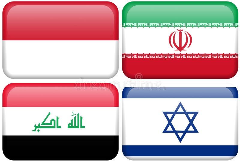 Download Asian Flag Buttons: Indonesia, Iran, Iraq, Israel Stock Illustration - Illustration of macro, irani: 4800410