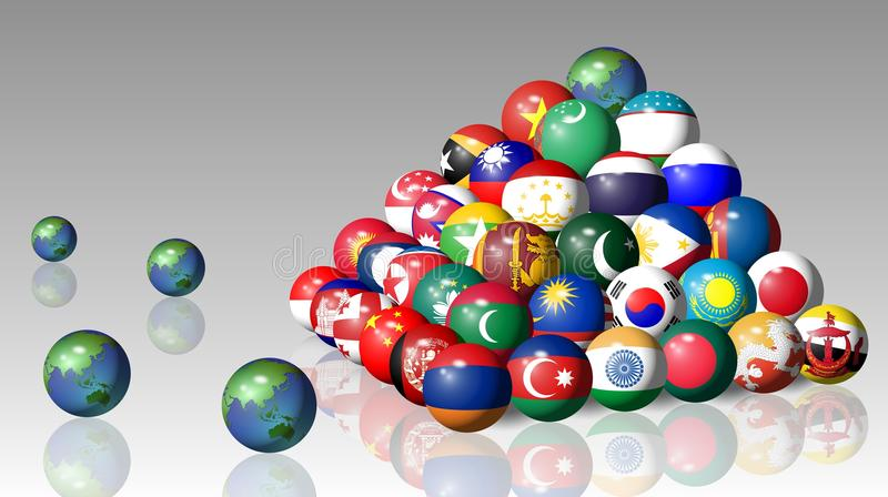 Download Asian Flags Royalty Free Stock Photos - Image: 25508898