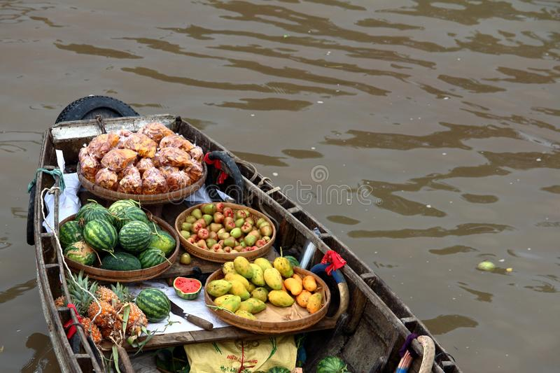 Asian Floating Market royalty free stock images