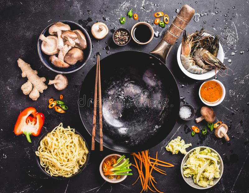 Asian food cooking concept stock photo
