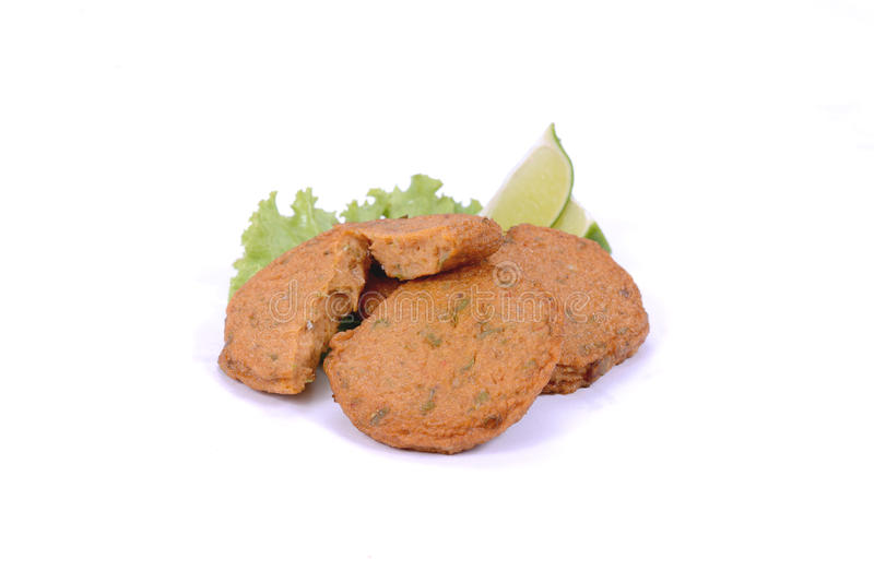 Asian food - Curry fried. On white royalty free stock photo