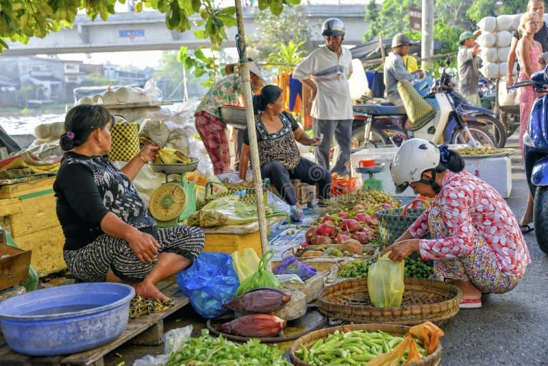 Asian fresh fruit and vegetable market royalty free stock photos