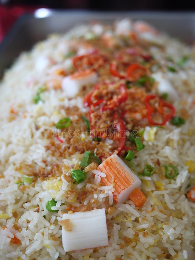 Asian Fried Rice. Delicious Asian Seafood Fried Rice royalty free stock photography