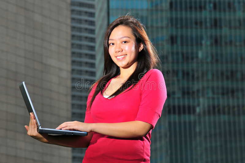 Download Asian Girl 11 stock photo. Image of business, smiling - 6431286