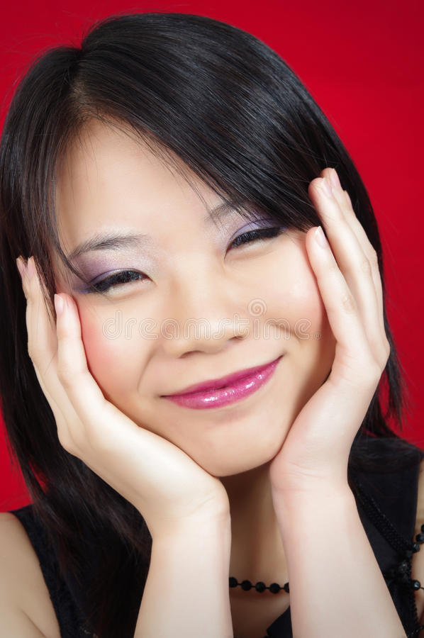 Download Asian girl stock photo. Image of portrait, asian, posing - 25631846