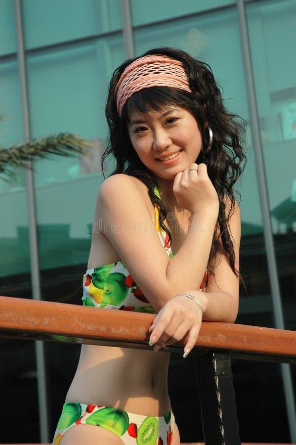 Download Asian  girl stock photo. Image of girl, kitool, handrail - 6373836