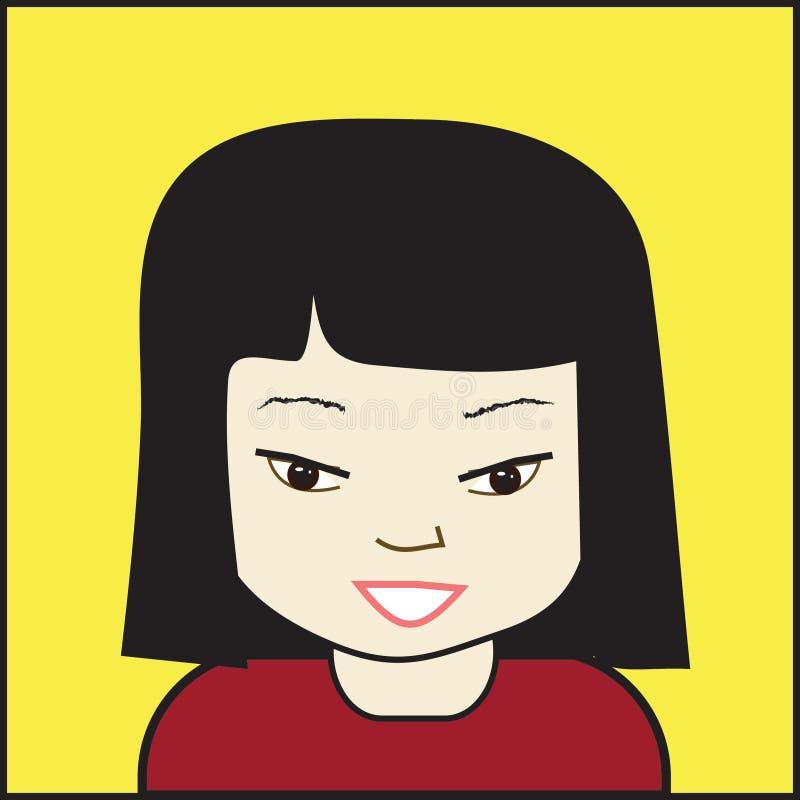 Download Asian Girl stock vector. Illustration of asian, smile - 7947798