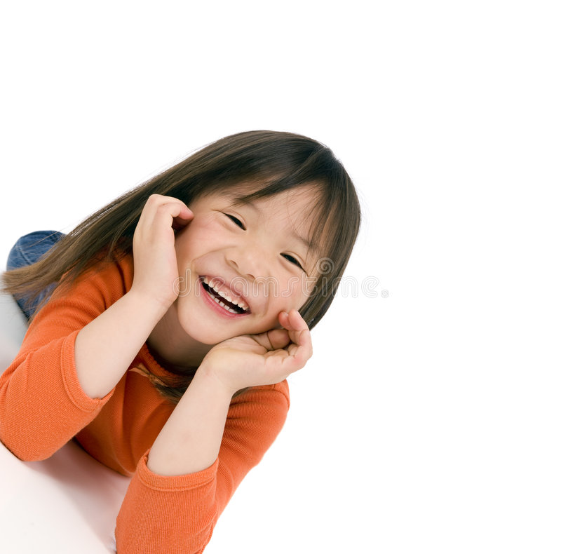 Asian Girl. A young asian school girl being silly royalty free stock images