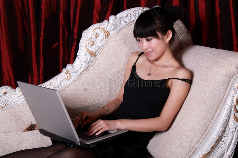 Download Asian girl stock image. Image of dress, chinese, indoors - 9364951
