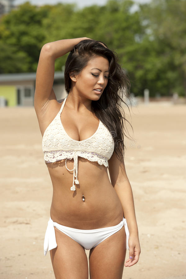 Free Asian Girl At The Beach Stock Photos - 57746273
