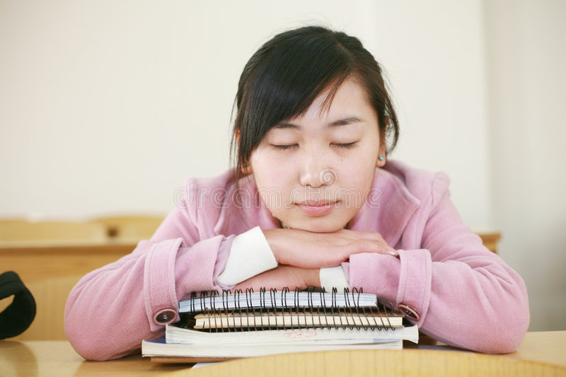 Download Asian Girl In Classroom Stock Image - Image: 7396761