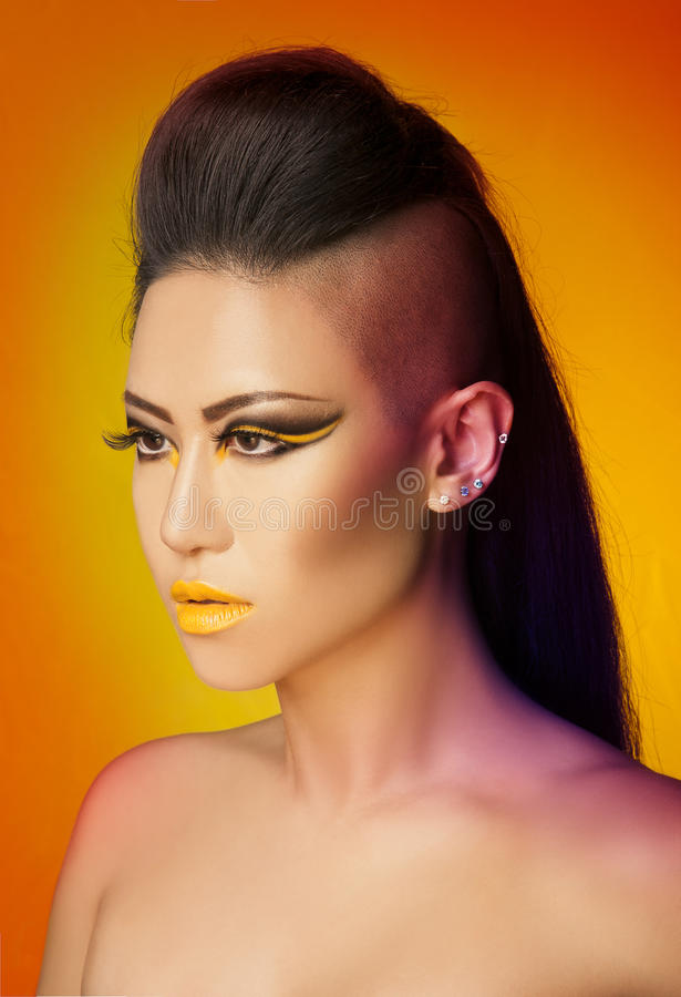 Sunset colors makeup art royalty free stock photos