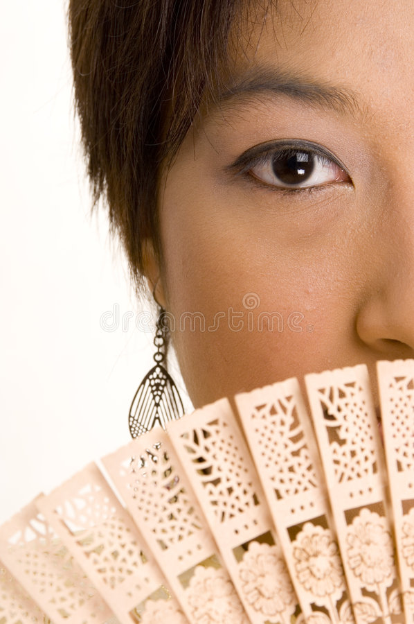 Asian Girl and Fan 5 stock photos