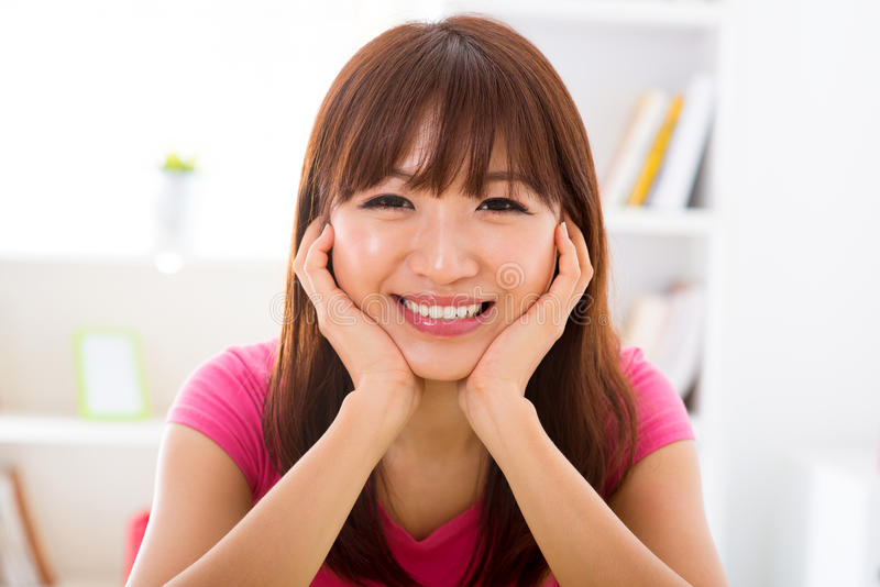 Download Asian Girl Holding Her Face Stock Photo - Image: 27757530