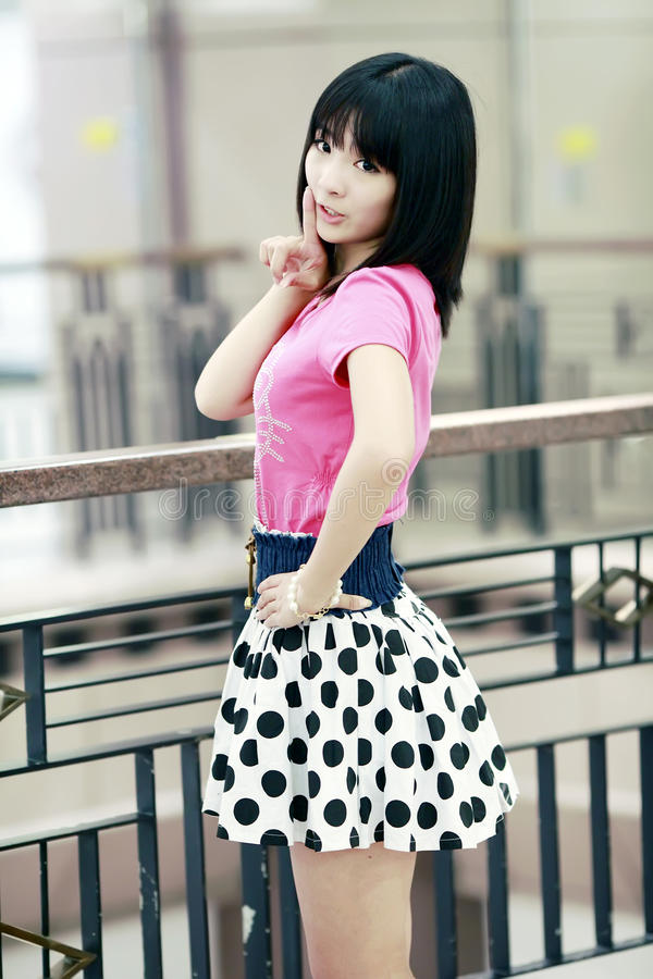 Asian girl indoor portrait royalty free stock photo
