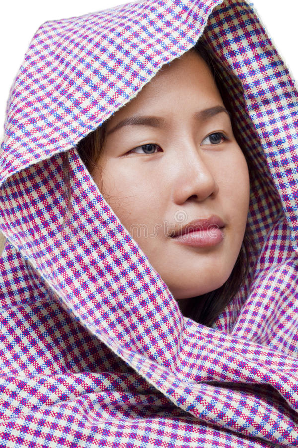 Asian Girl Isolated On White Background Royalty Free Stock Photography