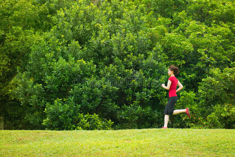 Download Asian girl jogging stock photo. Image of copyspace, athletic - 36079896