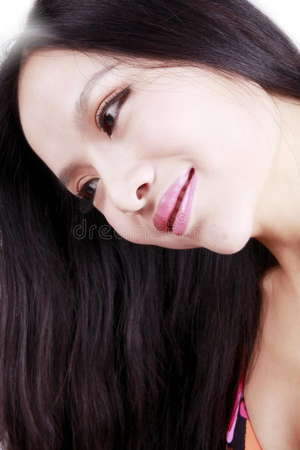 Download Asian girl with long hair stock image. Image of beautiful - 15658225