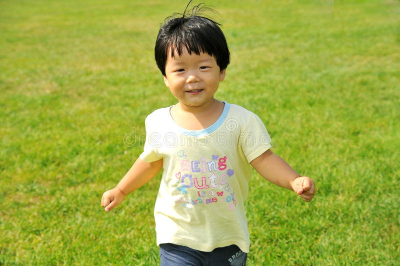 An Asian girl royalty free stock photo