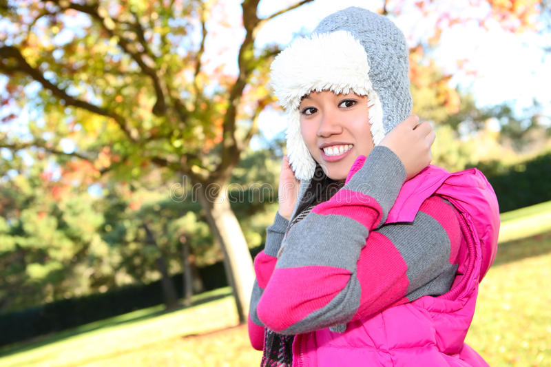 Asian Girl in Park royalty free stock image