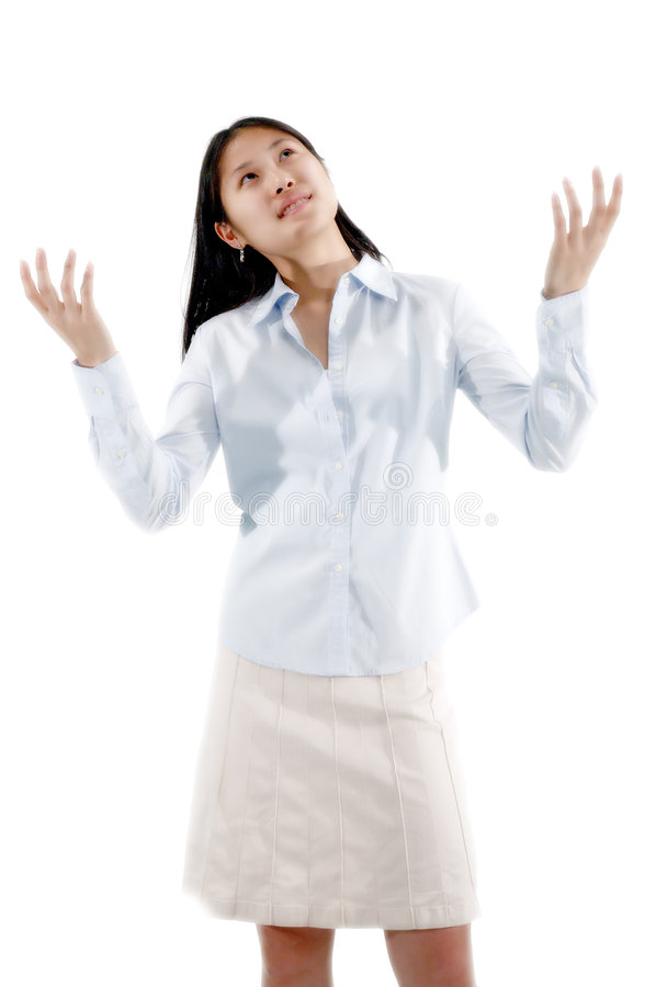 Asian Girl Questioning royalty free stock images