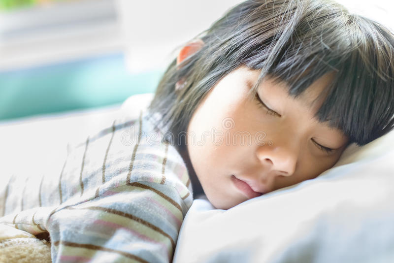 Asian girl sleeping innocent young
