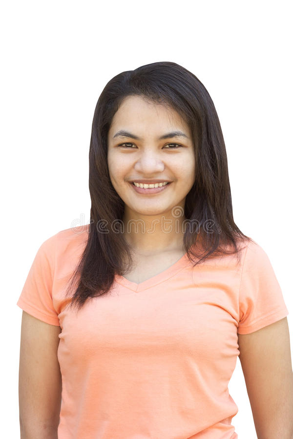Asian girl smiling royalty free stock photo