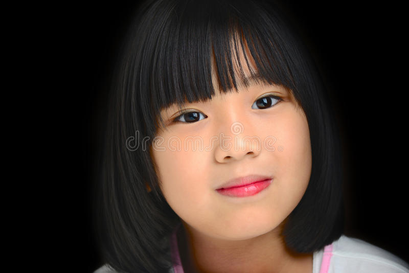 Asian girl smiling royalty free stock photography