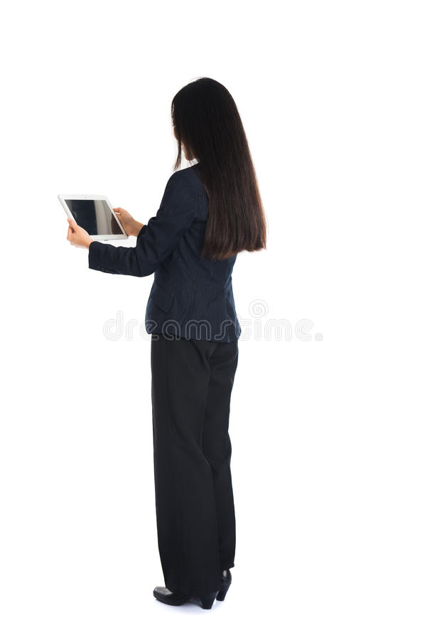 Asian girl with tablet stock image