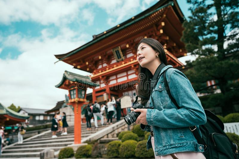Photographer taking picture in japanese lifestyle royalty free stock images