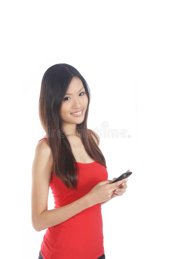Download Asian Girl Using Mobile Phone Stock Photography - Image: 22664102